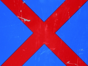 red cross on blue [9/24] / 2011 / océ lightjet print / 40x30