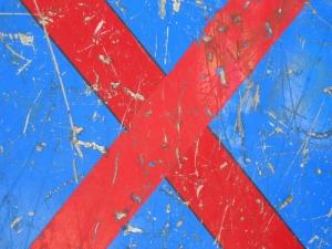 red cross on blue [3/24] / 2011 / océ lightjet print / 40x30