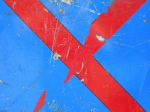 red cross on blue [2/24] / 2011 / océ lightjet print / 40x30