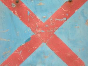 red cross on blue [18/24] / 2011 / océ lightjet print / 40x30