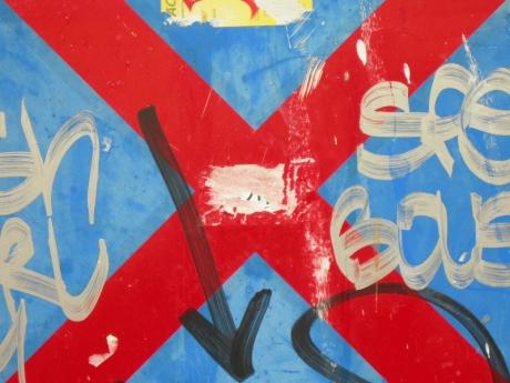 red cross on blue [17/24] / 2011 / océ lightjet print / 40x30