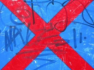 red cross on blue [15/24] / 2011 / océ lightjet print / 40x30