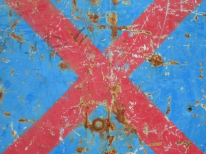 red cross on blue [14/24] / 2011 / océ lightjet print / 40x30