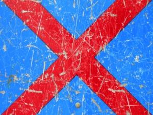 red cross on blue [10/24] / 2011 / océ lightjet print / 40x30