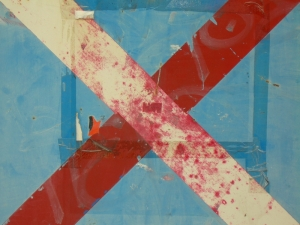red cross on blue [13/24] / 2011 / océ lightjet print / 40x30