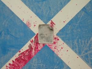 red cross on blue [8/24] / 2011 / océ lightjet print / 40x30