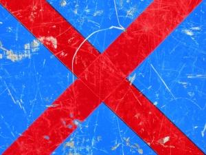 red cross on blue [7/24] / 2011 / océ lightjet print / 40x30