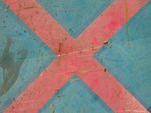 red cross on blue [5/24] / 2011 / océ lightjet print / 40x30