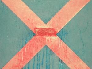 red cross on blue [24/24] / 2011 / océ lightjet print / 40x30