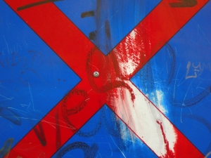 red cross on blue [23/24] / 2011 / océ lightjet print / 40x30