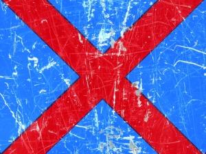 red cross on blue [21/24] / 2011 / océ lightjet print / 40x30