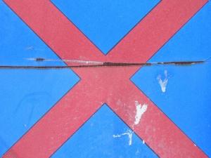red cross on blue [20/24] / 2011 / océ lightjet print / 40x30