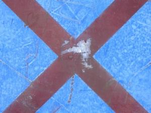 red cross on blue [19/24] / 2011 / océ lightjet print / 40x30