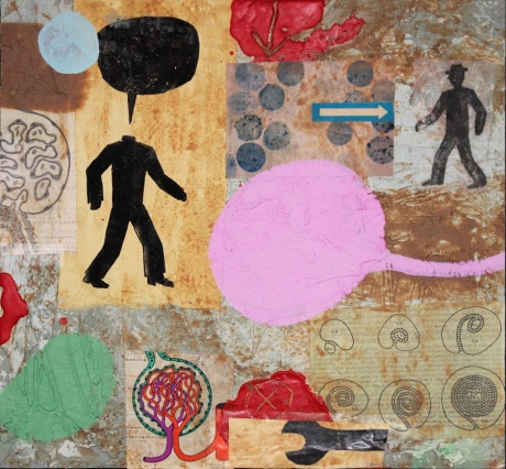 without title / 2014 / acrylic, plaster, wax and mixed media on board / 34x32
