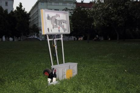 "installation ""1-0-0 (antidepressants are cool)"" at the Ukradená galerie, 22 may 2014, Prague-Žižkov"