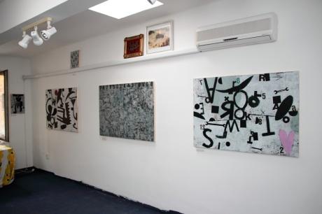 exhibition in the studio, june 2014