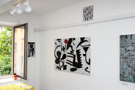 exhibition in the studio, june 2014