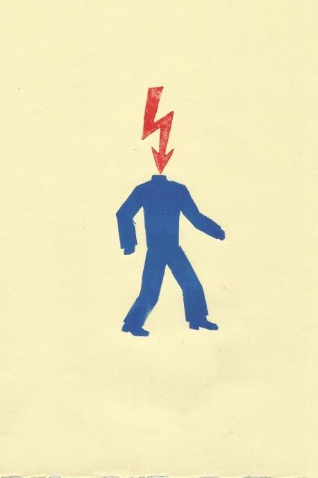 human conditions series / 2014 / lino print / 21x30
